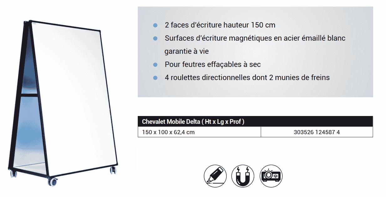 Chevalet mobile Delta