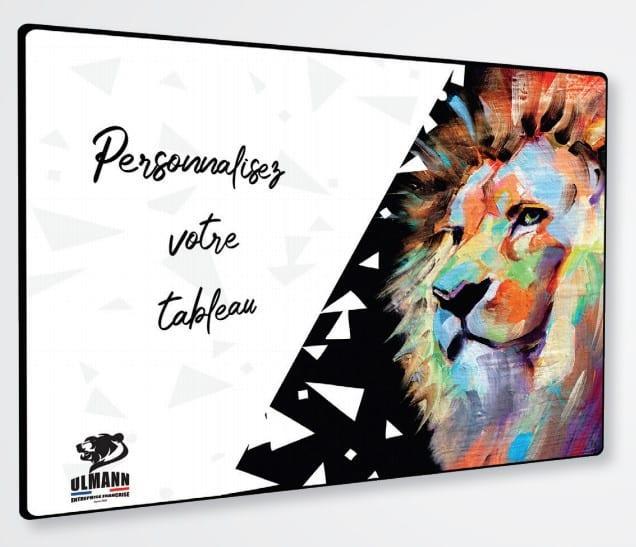 Exemple de tableau personnalisé avec une tête de lion