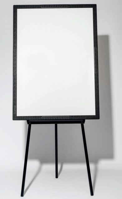 Chevalet Flomo seul, avec surface d'écriture blanche