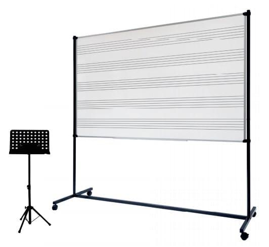 Tableau musique et pupitre d'orchestre