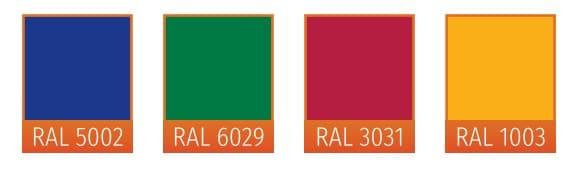 4 nuances couleurs RAL
