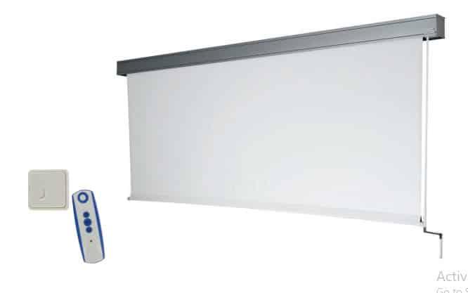 écran à manivelle, télécommande du modèle électrique