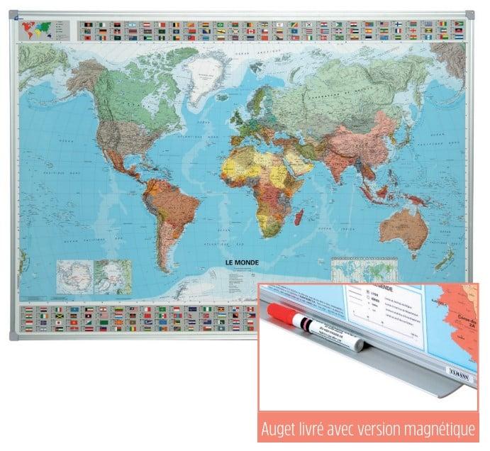 Carte géographique souple