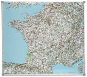 Carte géographique magnétique