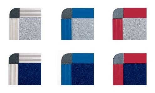 Panneaux en feutrine gris ou bleu Encadrement gris aluminium ou laqué
